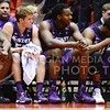 (Photo by Parker Robb | Collegian)  Senior guard Will Spradling, second from left, sits on the bench after he fouled out with 24 seconds remaining in the second half of K-State's 81-75 loss to the Cyclones January 25, 2014, in Hilton Coliseum in Ames, Iowa.