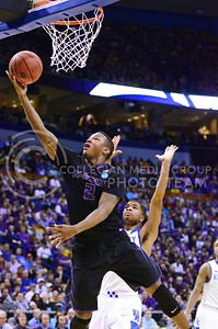 Parker Robb | The Collegian  Freshman forward Marcus Foster rises for a layup late in the first half of K-State's second-round NCAA tournament loss at the hands of Kentucky March 21, 2014, at the Scottrade Center in St. Louis.