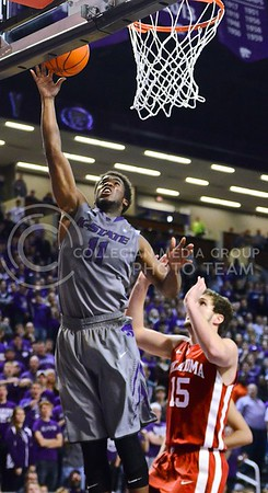 (Photo by Parker Robb | Collegian)  Junior forward Nino Williams shoots a layup during the second half of the Wildcats' 72-66 victory over the #25 Oklahoma Sooners January 14, 2014, in Bramlage Coliseum.