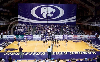 Photo by Jed Barker | The Collegian  The K-State volleyball team plays against the Texas Longhorns at Ahearn Field House on October 26, 2013.  The no.1 ranked Longhorns defeated the Wildcats in the first three sets.