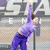 Photo by Parker Robb | The Collegian<br /> <br /> Freshman Maria Panaite serves the ball to Oklahoma's Morgan Chumney in K-State's loss to the Sooners at the Mike Goss Tennis Stadium March 28, 2014.