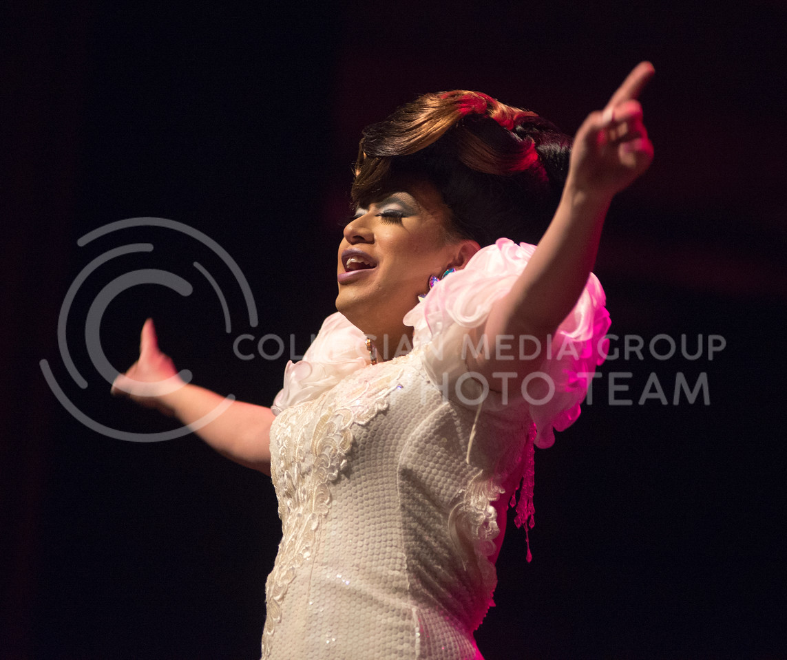Lilkim Chi performs during the 11th-annual K-State Drag Show on Feb. 20, 2015 in McCain Auditorium. (George Walker | The Collegian)