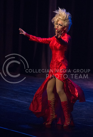 Victoria Fox performs during the 11th-annual K-State Drag Show on Feb. 20, 2015 in McCain Auditorium. (George Walker | The Collegian)