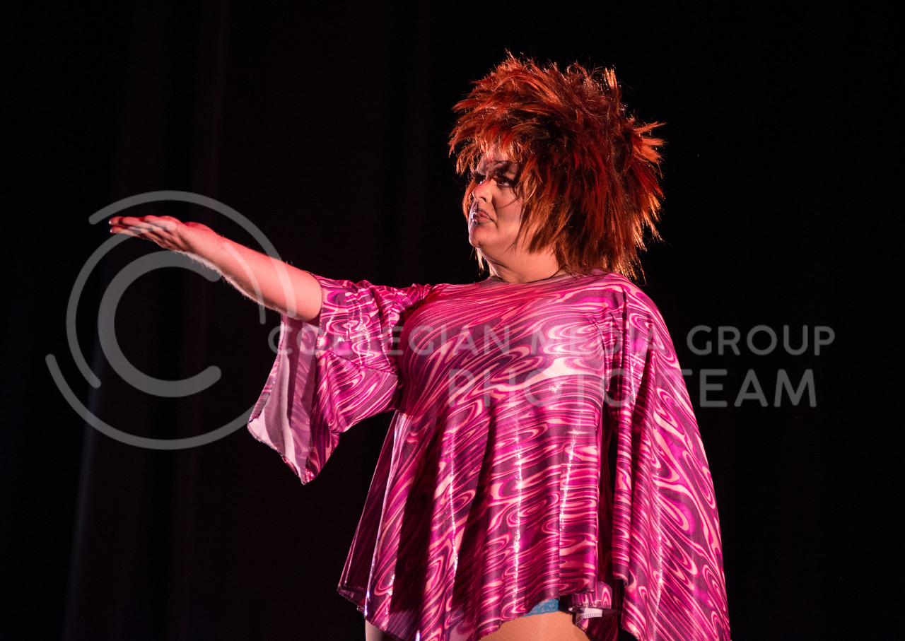 Monica Moree during the 11th-annual K-State Drag Show on Feb. 20, 2015 in McCain Auditorium. (George Walker | The Collegian)
