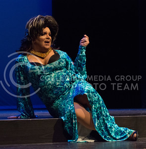 """Monica Moree performs """"I Look Good"""" during her second performance of the night at the 11th-annual K-State Drag Show at McCain Auditorium on Feb. 20, 2015. (Cassandra Nguyen 
