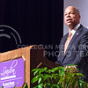 Jeh Johnson, U.S. Secretary of Homeland Security, delivers his Landon Lecture May 27, 2015, in Forum Hall in the K-State Student Union. Johnson was also in attendance that afternoon at the groundbreaking of the National Bio and Agro-Defence facility, which is under the jurisdiction of the Department of Homeland Security.  (Parker Robb | The Collegian)