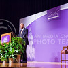 U.S. Secretary of Homeland Security Jeh Johnson takes the podium for the 167th Landon Lecture May 27, 2015, in Forum Hall in the K-State Student Union. (Parker Robb | The Collegian)