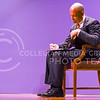Jeh Johnson, U.S. Secretary of Homeland Security, scribbles down some last minute notes before he takes the stage to deliver his Landon Lecture May 27, 2015, in Forum Hall in the K-State Student Union. (Parker Robb | The Collegian)