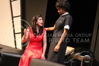 Gabrielle Browne and Daijah Porchia, Sophomores in Theatre, in K-State Theatre's production of By the Way, Meet Vera Stark (Nicholas Cady | The Collegian)