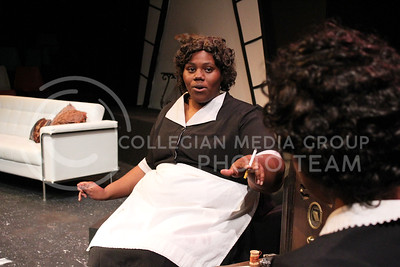 Angelica McKinnis, Senior in Theatre, as Lottie in K-State Theatre's production of By The Way, Meet Vera Stark (Nicholas Cady | The Collegian)