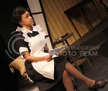 Daijah Porchia, sophomore in Theatre, in K-State Theatre's production of By the Way, Meet Vera Stark (Nicholas Cady | The Collegian)