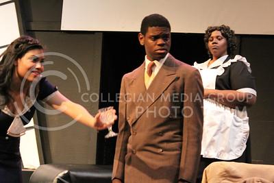 Nicole Casonhua, Junior in Theatre, Darrington Clark, Junior in Mass Communications, and Angelica McKinnis, Senior in Theatre in K-State Theatre's production (Nicholas Cady | The Collegian)