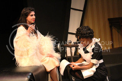 Gabrielle Brown and Daijah Porchia, Sophomores in Theatre, in K-State Theatre's production of By the Way, Meet Vera Stark (Nicholas Cady | The Collegian)