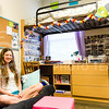 Parker Robb | The Collegian<br /> <br /> Lisa Owsley, junior in bakery science, personalized and made her room in Boyd Hall more homey by supplying furnishings form her room back home and covering the walls around her desk with photos of friends and family.