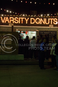 (Photo by Taylor Alderman | The Collegian)  Even though it has only been open for about two years, the Varsity Truck in Aggieville has become a late night food staple, and its Mac 'n' Cheese Grilled Cheese is especially popular.