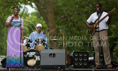 Dr. Virginia Hines and Friends sing gospel songs to kick off the Bayou GatorCraw Fest at Tuttle Creek State Park on July 18, 2015. (Emily Starkey | The Collegian)