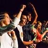 Parker Robb | The Collegian<br /> <br /> Fans of Lindsey Stirling ask for an encore during Stilring's dubstep violin performance September 13, 2014, on Bosco Plaza.