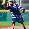 Parker Robb | The Collegian<br /> <br /> Wounded Warrior pitcher Zachary Briseno delivers a pitch during the Wounded Warrior Amputee Softball Team's game against the Fort Riley celebrity team, which included K-State football, KC Chiefs and KC Royals all-stars, Saturday evening at Tointon Family Stadium.