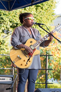 Alex Shaw   Collegian Media Group  Aliyah Stephens plays guitar, and does vocals for The Whooligans at the OPUS Band Competition