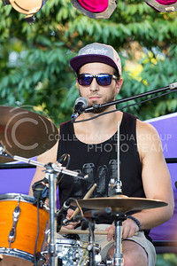 Alex Shaw   Collegian Media Group  Matija Krstic a music major at K-State plays drums for the Whooligans at the OPUS Band Competition