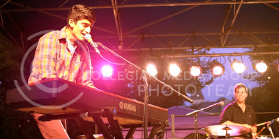 Vik Govindarajan, KU student, and vocalist for The Vik G Trio, performs at the OPUS band competition Friday evening, Sept. 26, 2014. (Vail Moshiri | The Collegian)