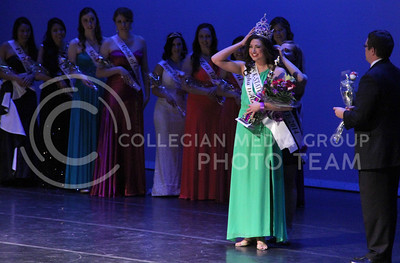 Ashley Wilmoth of Alpha Delta Pi is crowned Miss K-State 2015. (Vail Moshiri | The Collegian)
