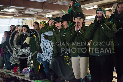 Baylor Equestrian members cheer on as one of their teammates compete in the Over Fences competition at the K-State vs. Baylor Equestrian meet on Fe. 28, 2015 at Timbercreek Stables. The Wildcats had a victory against #1 bears 10-8. (Cassandra Nguyen | The Collegian)