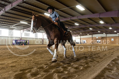 Brynn Critcher, freshman, rides Dallas during the reining competition of Saturdays meet against Baylor University. (Evert Nelson | The Collegian)