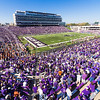 The Pride of Wildcat Land performs hits from The Beatles during halftime of the Wildcats' 23-0 shutout of the Texas Longhorns Oct. 25, 2014, in Bill Snyder Family Stadium. (Parker Robb | The Collegian)