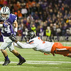 K-State wide receiver picks up some yards after the catch as Oklahoma State safety Tre Flowers tries to tackle him on Saturday, November 1, 2014 at Bill Snyder Family Stadium. K-State won 48-14. (Emily DeShazer | The Collegian)