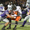 K-State linebacker Jonathan Truman tackles Oklahoma State quarterback Daxx Garman on Saturday, November 1, 2014 at Bill Snyder Family Stadium. (Emily DeShazer | The Collegian)