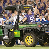 K-State lineback David Smith rides off the field in the back of a gator after being injured during the Sunflower Showdown at Bill Snyder Family Stadium on Nov. 29, 2014. (George Walker | The Collegian)