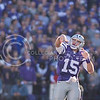 K-State quarterback Jake Waters throws a pass during the Sunflower Showdown at Bill Snyder Family Stadium on Nov. 29, 2014. (George Walker   The Collegian)