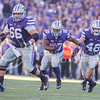 K-State running back DeMarcus Robinson takes the ball downfield during the Sunflower Showdown at Bill Snyder Family Stadium on Nov. 29, 2014. (George Walker   The Collegian)