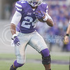 K-State running back Charles Jones takes the ball downfield during the Sunflower Showdown at Bill Snyder Family Stadium on Nov. 29, 2014. (George Walker   The Collegian)