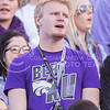 A fan cheers on the Wildcats during the Sunflower Showdown at Bill Snyder Family Stadium on Nov. 29, 2014. (George Walker   The Collegian)