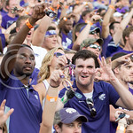 Photo by George Walker | The Collegian  Fans shake their keys at Bill Snyder Family Stadium during the game on Aug. 30, 2014