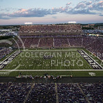 (Photo by Rodney Dimick | Collegian) The Pride of Wildcat Land performs its halftime show on August 30, 2014 at Bill Snyder Family Stadium.