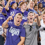 Photo by George Walker | The Collegian  Fans cheer at the game on Aug. 30, 2014 at Bill Snyder Family Stadium.