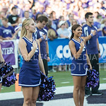 (Photo by Rodney Dimick | Collegian) Cheerleaders honor our nation on August 30, 2014 at Bill Snyder Family Stadium.