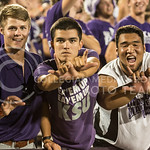 Photo by Rodney Dimick | The Collegian Student fans show K-State pride on August 30, 2014 at Bill Snyder Family Stadium.