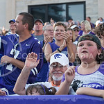 (Photo by Rodney Dimick | Collegian) Fans celebrate after a touchdown on August 30, 2014 at Bill Snyder Family Stadium.