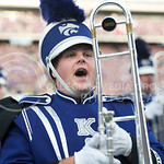 A band member shows his pride on Sept. 18, 2014 at Bill Snyder Family Stadium.  (Rodney Dimick | The Collegian)