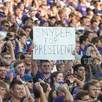 Student fans root for Bill Snyder before the game on Sept. 18, 2014 at Bill Snyder Family Stadium.  (Rodney Dimick | The Collegian)