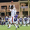 Parker Robb | The Collegian<br /> <br /> Auburn wide receiver D'haquille Williams beats K-State centerback Danzel McDaniel to haul in the game-winning catch that allowed Auburn to run out the clock with several quarterback kneels during the Wildcats' 20-14 loss to Auburn Thursday evening in Bill Snyder Family Stadium.