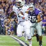 Parker Robb | The Collegian  Auburn quarterback Nick Marshall rushes the ball during the Wildcats' 20-14 loss to Auburn Thursday evening in Bill Snyder Family Stadium.
