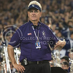 Band director Frank Tracz energizes the band to sustain their spirit during the last quarter of the game on Sept. 18, 2014 at Bill Snyder Family Stadium.  (Rodney Dimick | The Collegian)