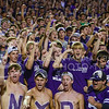 Parker Robb | The Collegian<br /> <br /> Fans in the overflowing student section cheer during the Wildcats' 20-14 loss to Auburn Thursday evening in Bill Snyder Family Stadium.