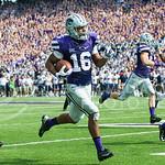 K-State wide receiver Tyler Lockett returns a kick on Saturday, September 27, 2014 at Bill Snyder Family Stadium.
