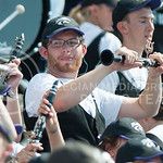 A band member dances during the game vs. UTEP on Sept. 27, 2014 in Bill Snyder Family Stadium. (George Walker | The Collegian)